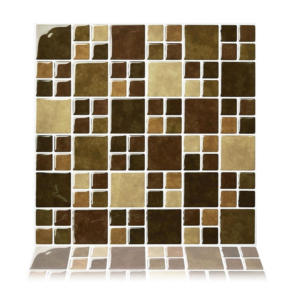 - Cocotik Peel And Stick 3D Vinyl Sticker Kitchen Backsplash Tiles, 10
