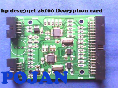 Decryption card Designjet Z6100 ps #91 C9464A>C9470A Ink Cartridge Permanent Chip ink plotter ink cartridge card