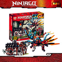 IN STOCK Lepin 060411158Pcs Ninjaed Series Of Dragon Forging Assembled Building Blocks Bricks Toys Compatible With