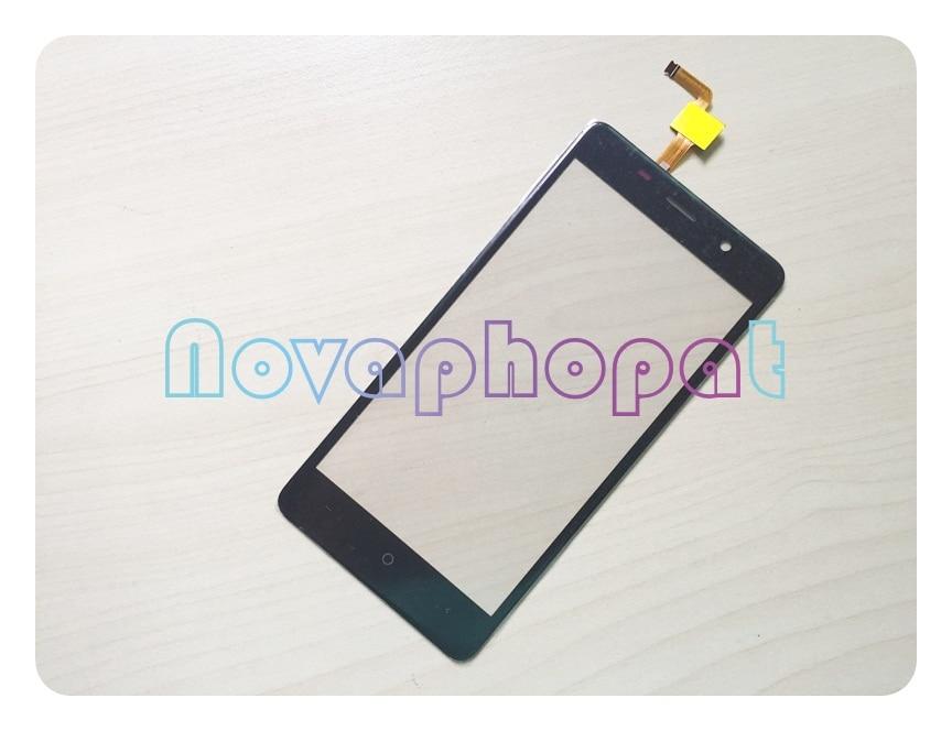 Novaphopat Black/Golden Digitizer Screen For Bravis A504 Trace Touch Screen Glass Digitizer Sensor Screen Replacement +tracking