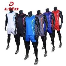Etto профессиональная волейбольная команда костюмы для мужчин быстросохнущие шорты и без рукавов Джерси Набор для волейбола тренировочная спортивная одежда HXB025