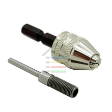 0-4mm Grinder Keyless Drill Bit Chuck Quick Change Adapter Converter 3mm Shaft +6.35mm Hex Rod For Dremel Rotary Tools