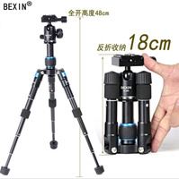 Portable Lightweight Aluminum Camera Tripod Compact Flexible Foldable Desktop Mini Tripod with Ball Head For DSLR Camera