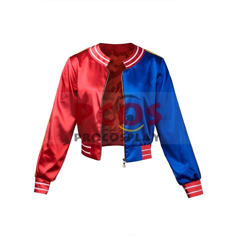 США в наличии и Бесплатная доставка ~ Высокое качество отряд самоубийц Харли Квинн косплей костюм куртка mp002965