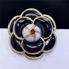 B203 ювелирные изделия камелии эмалевые цветы ювелирные изделия Роскошные брендовые дизайнерские украшения брошь на булавке Брошь для женщин с отворотом