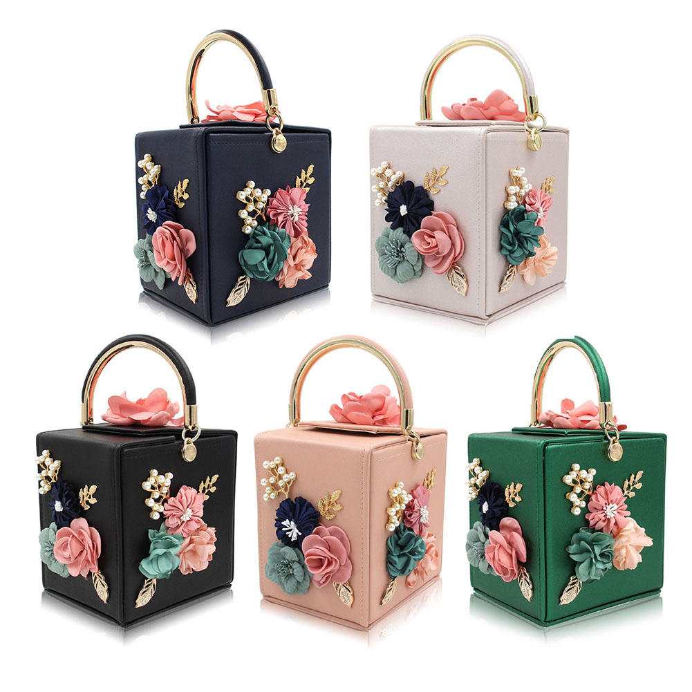 0b5a367e9339 New Women Clutches Flower Clutch Bag Tote Box Clutches Purse Evening  Handbag For Ladies Female Elegant Fashion Hand Bags Totes