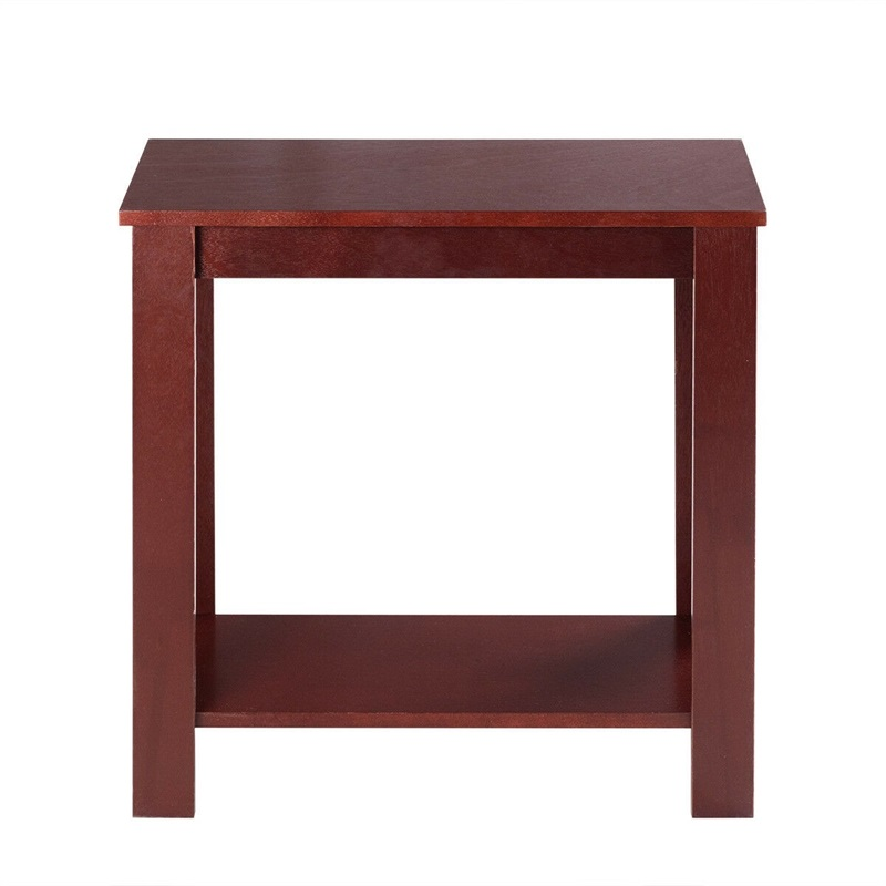 Espresso Wooden Sofa End Table Side Table Rectangle Living Room Furniture HW51530