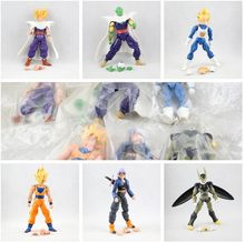 hot sell japanese anime Dragon Ball Z vivid Goku action figures figure toy doll Christmas gift for children 6pcs/lot 15cm(China)