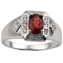 Natural Red Garnet Ring 925 Silver Band 6x8mm Oval Gemstone January Birthstone Carpricorn Zodiac Jewelry R117RGNW