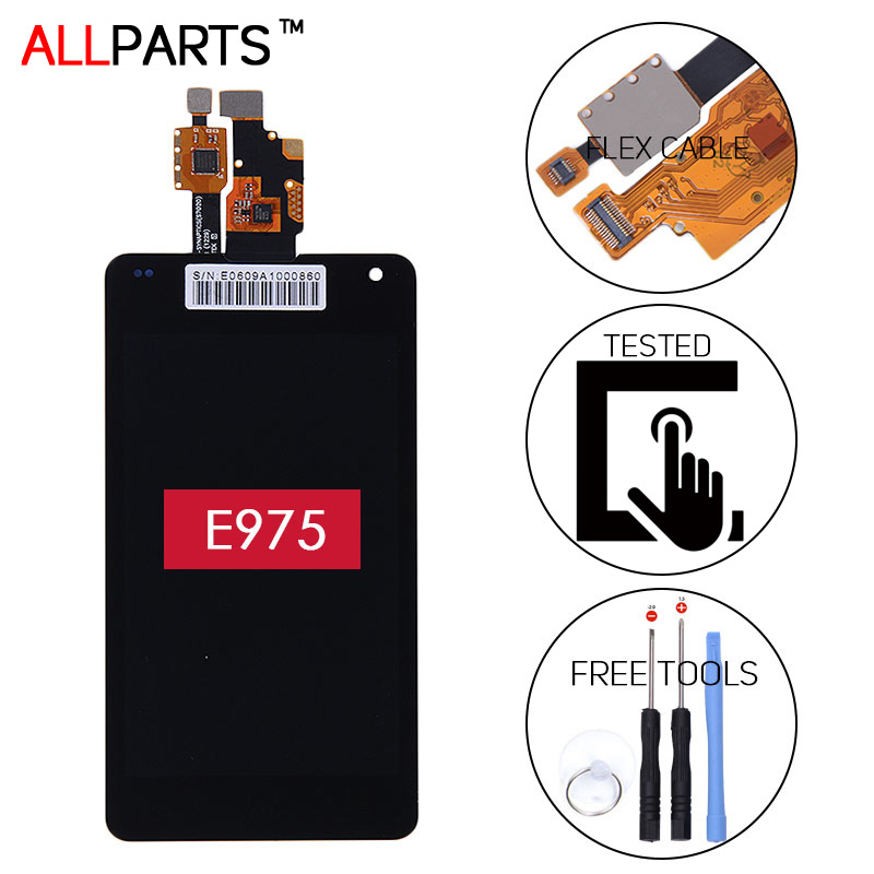 ORIGINAL 1280x768 Display For LG Optimus G E975 LCD With Touch screen Digitizer Assembly with Frame LS970 F180 E971 E973