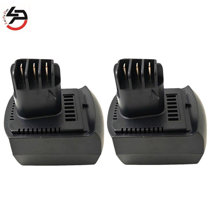 3000mAh NI-MH 12V pour METABO batterie de remplacement outil électrique BZ 12 SP, SSP 12, ULA9.6-18, 6.25473 3.0Ah Batteries 2 pièces