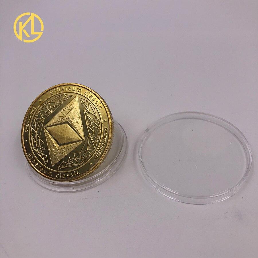 Золотой/посеребренный эфириум монета Биткоин памятная монета художественная коллекция подарок физическая имитация из металла вечерние украшения для дома