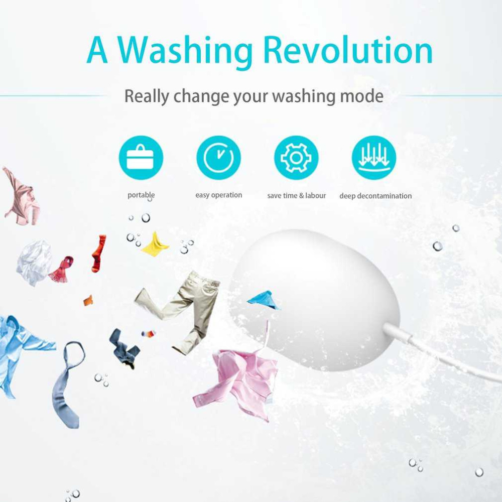 New Universal Portable Mini Laundry Device Household Machine Saving Time Deep Cleaning Low Consumption Travel Device