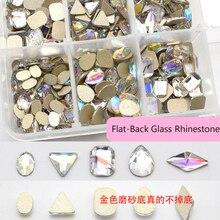 10pcs/Lot Crystals TEARDROP Oval Shape Crystal AB Flat Back Fancy Stone Chameleon Rhinestone Gems For Nail Art Strass (1959)