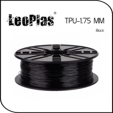 Worldwide Fast Delivery Manufacturer 3D Printer Material 1kg 2.2lb Soft Rubber 1.75mm Flexible Black TPU Filament