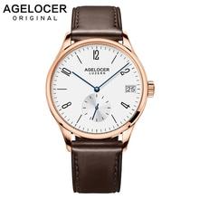 AGELCOER Antique Swizerland Wrist Watch Men 2019 Top Brand Luxury Famous Male Clock Gold Dive 50m Waterproof Watches With Box