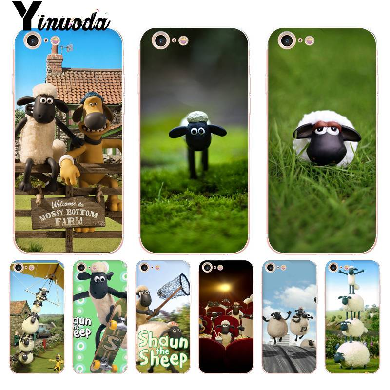 competitive price 3615e c5f71 Yinuoda For iPhone 7 6 X Case Shaun the Sheep movie Transparent Phone Cover  Case for iPhone 8 7 6 6S Plus X 5 5S SE XR XS XSMAX