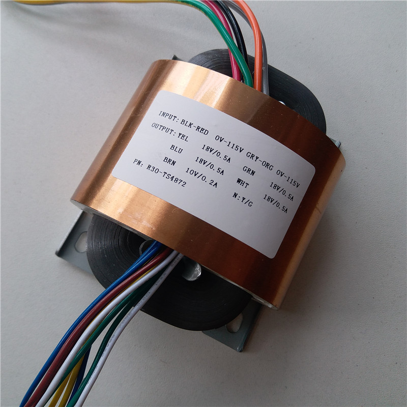 4 18V 0 5A 10V 0 2A R Core Transformer 40VA R30 custom transformer 115 115V