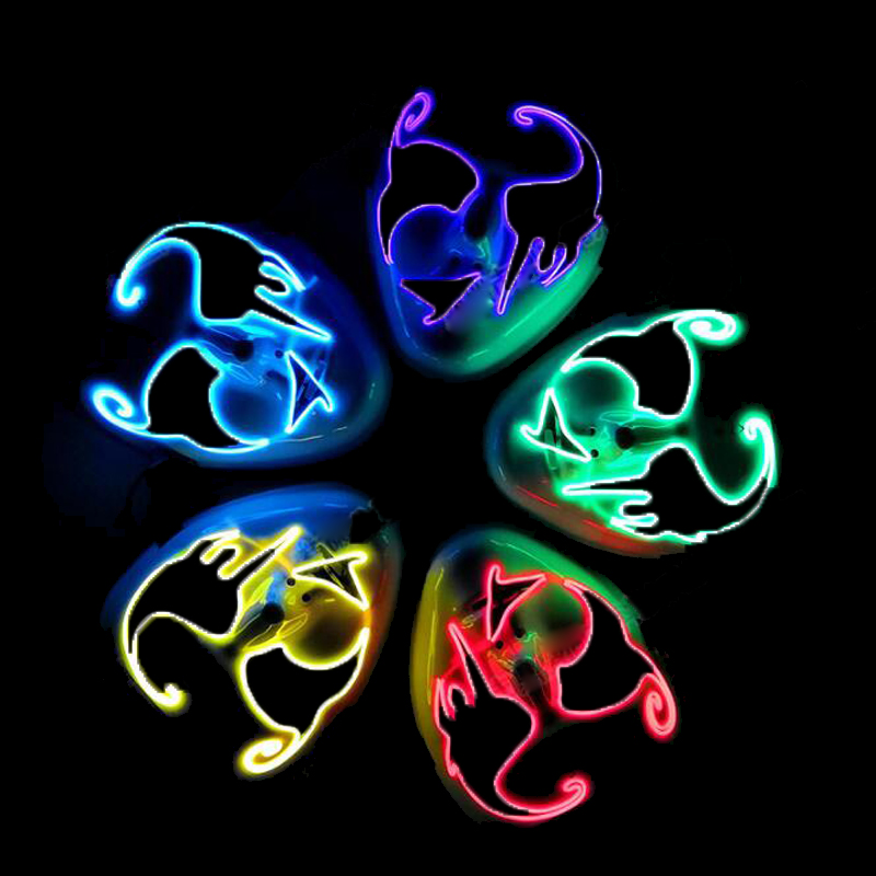 EL LED Glowing Mask Party Cosplay Masks Club Lighting Decorative Bar Fluorescence Shield Face Guards Performance Props