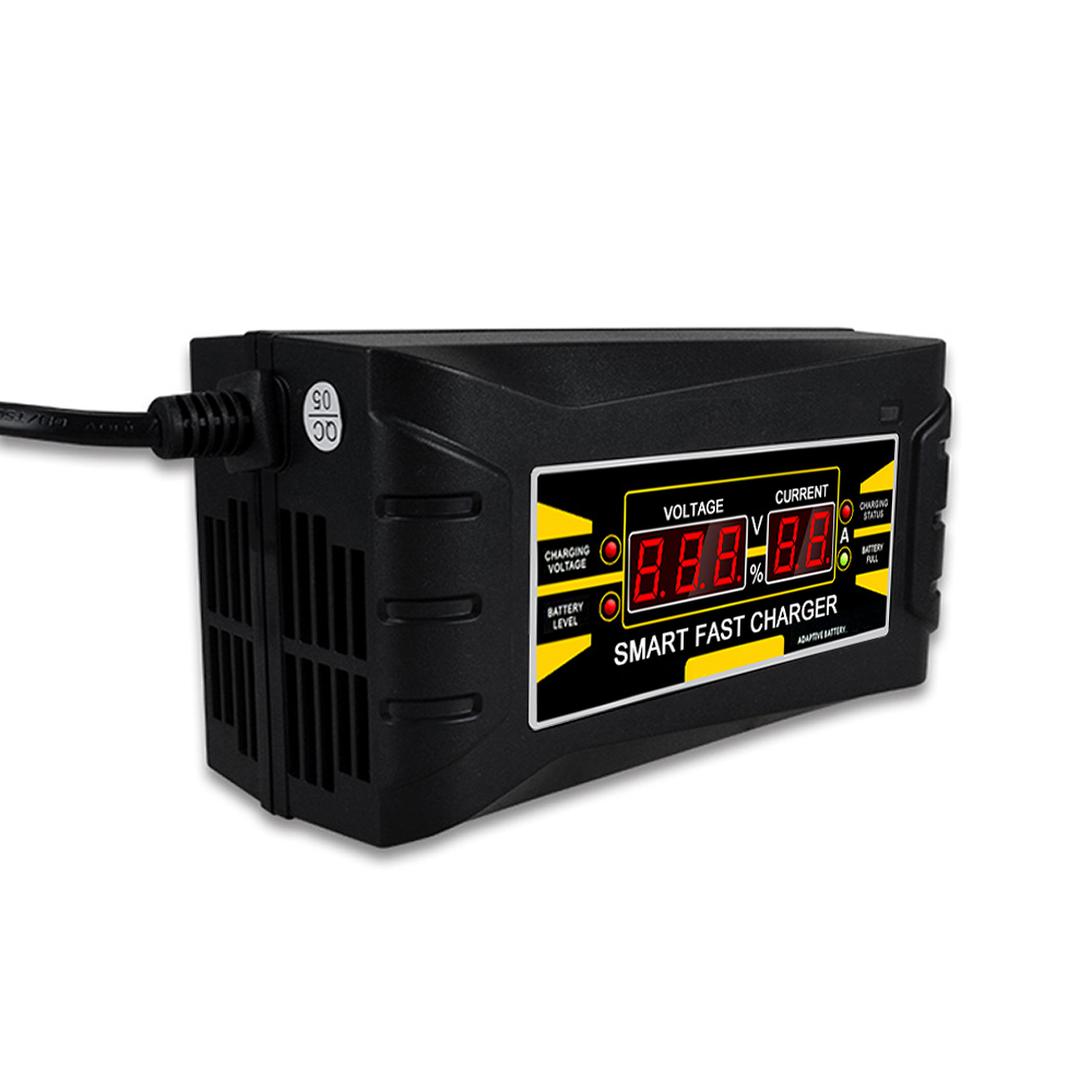 Volle Automatische Auto Batterie Ladegerät 150 v/250 v Zu 12 v 6A Smart Schnelle Power Lade Für Nass dry Blei-säure Digitale EU Stecker