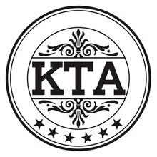 CK2625#15*15cm KTA funny car sticker vinyl decal silver/black auto stickers for bumper window decorations