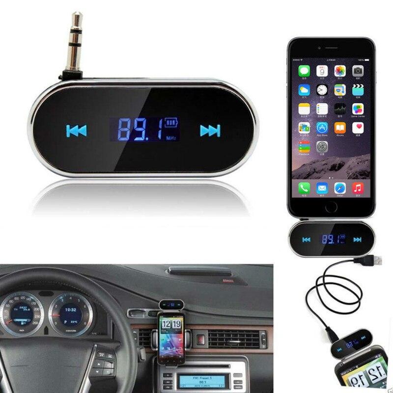 Portable Sans Fil De Voiture Kit 3.5mm audio interface Aux Transmetteur FM Lecteur MP3 USB SD LCD À Distance Mains Libres Mini pour musique