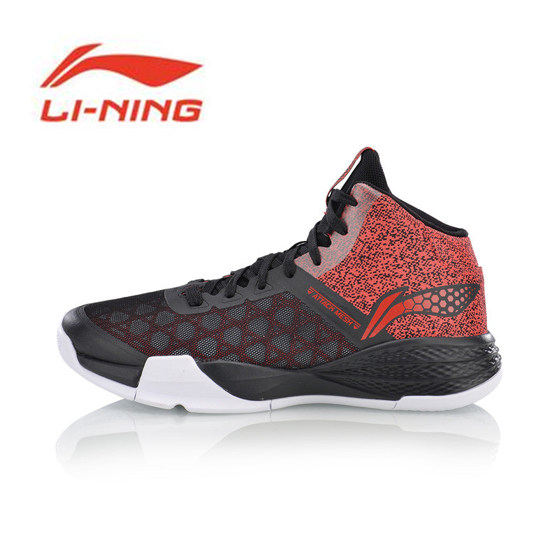 Li Ning Men's STORM On Door Basketball Shoes LiNing Cloud Breathable Cushioning Sneakers Sports Shoes ABFM005 li ning original men sonic v turner player edition basketball shoes li ning cloud cushion sneakers tpu sports shoes abam099