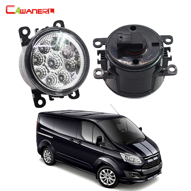 Cawanerl 1 Pair Auto LED Daytime Running Light Fog Light DRL High Power Car Styling For Ford Transit Platform Chassis 2006-2015 cawanerl 2 x car led light auto fog light drl daytime running light for lexus rx 450h rx450h awd closed off road vehicle 2008