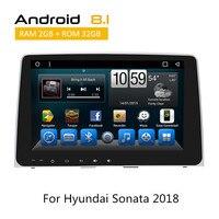 Для hyundai Sonata 2018 автомобиль радио с Android8.1 gps навигации камера заднего вида AUX Bluetooth TPMS SWC без CD DVD плеер