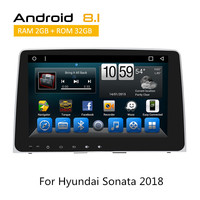 For Hyundai Sonata 2018 Car Radio With Android8.1 GPS Navigation With Rear View Camera AUX bluetooth TPMS SWC No CD DVD Player