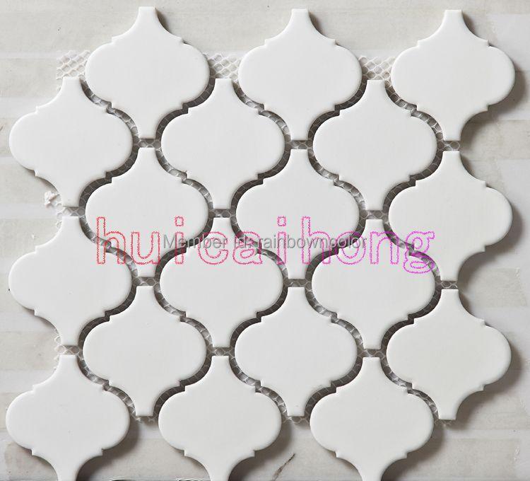 Matte White Color Ceramic Mosaic Tiles
