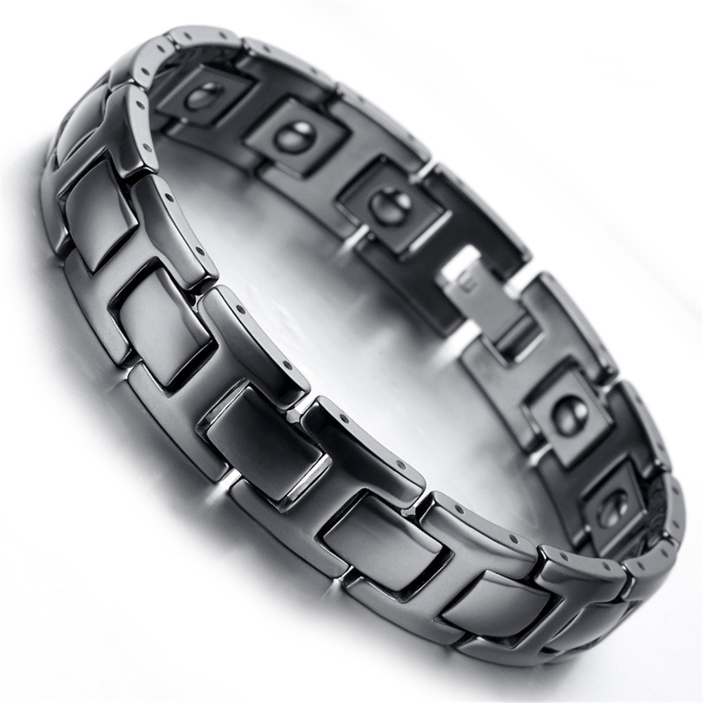 Mens Tungsten Bracelet Black 7 9 Kb1947 In Charm Bracelets From Jewelry Accessories On Aliexpress Alibaba Group