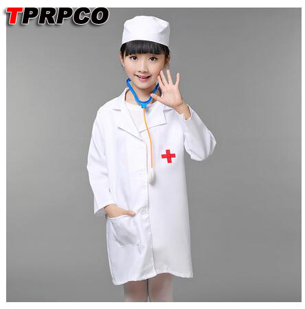TPRPCO Children Halloween Cosplay Costume Kids Doctor Costume Nurse Uniform NL102
