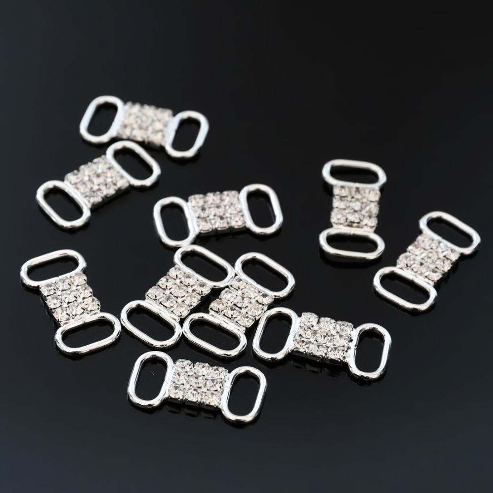Small buckles for crafts - 2016new 100pcs Small Rhinestone Bikini Connectors Buckle Metal Chain For Swimming Wear And Diy Baby