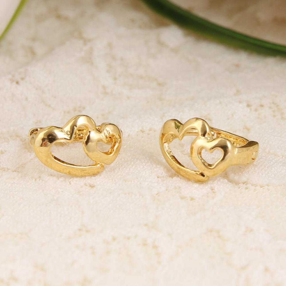 earrings yellow jewellery gio baby studs screwback heart safety bling jewelry gold