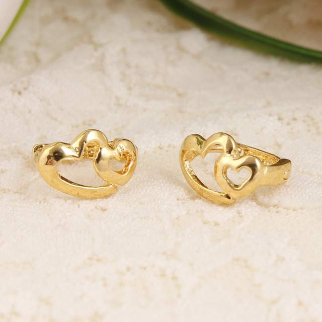 Est Heart Earrings S Dubai Gold Jewellery Turkish Egyptian Algeria Indian Moroccan Saudi Jewelry Earring