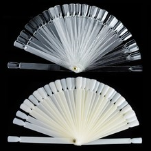 50Pcs Practical Fan Nail Polish Display Art New DIY Gel Color Palette Nails Color Card Manicure Makeup Tools