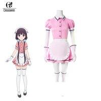 ROLECOS 5 Colors Blend S Cosplay Costume Maika Sakuranomiya Cosplay Stile Cafe Sadistic Anime Maid Costume