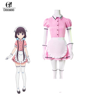 ROLECOS 5 Colors Blend S Cosplay Costume Maika Sakuranomiya Cosplay Stile Cafe Sadistic Anime Maid Costume