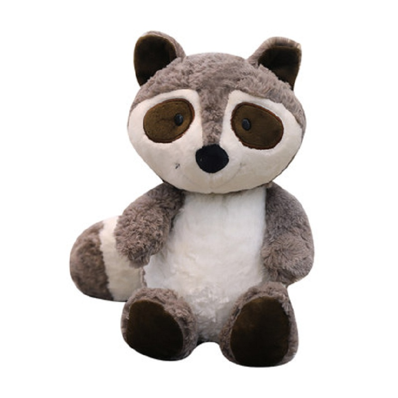 New 40/60/75cm Hot toys Cute Little Raccoon Figure Plush Toy For Boys Girls Kids Stuffed Animal Doll Birthday Gift For Everyone