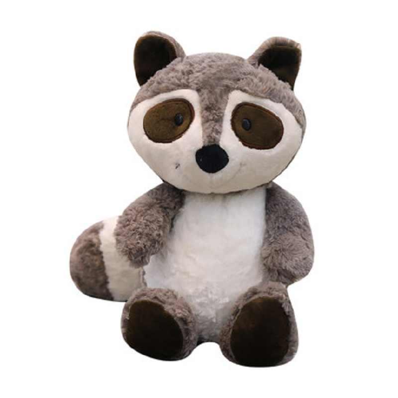 Novo 40/60/75cm brinquedos quentes bonito pouco guaxinim figura brinquedo de pelúcia para meninos meninas crianças boneca animal de pelúcia presente de aniversário para todos