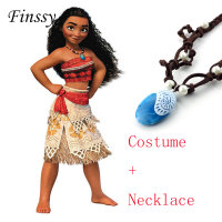 Princess Moana Cosplay Costume For Children Moana Costume With Necklace For Adult Women Halloween Costumes For