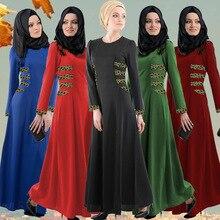2016 Аппликации Новый Jilbabs и Abayas кафтан арабских одежды Абая Турции на Ближнем Востоке мусульманских женское платье Модные Большой Размеры