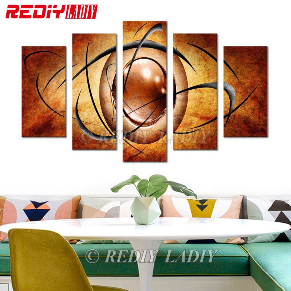 REDIY LADIY 5D Diamond Painting Triptych Full Square Crystal Modular Picture Abstract Drawing Wall Art Multi
