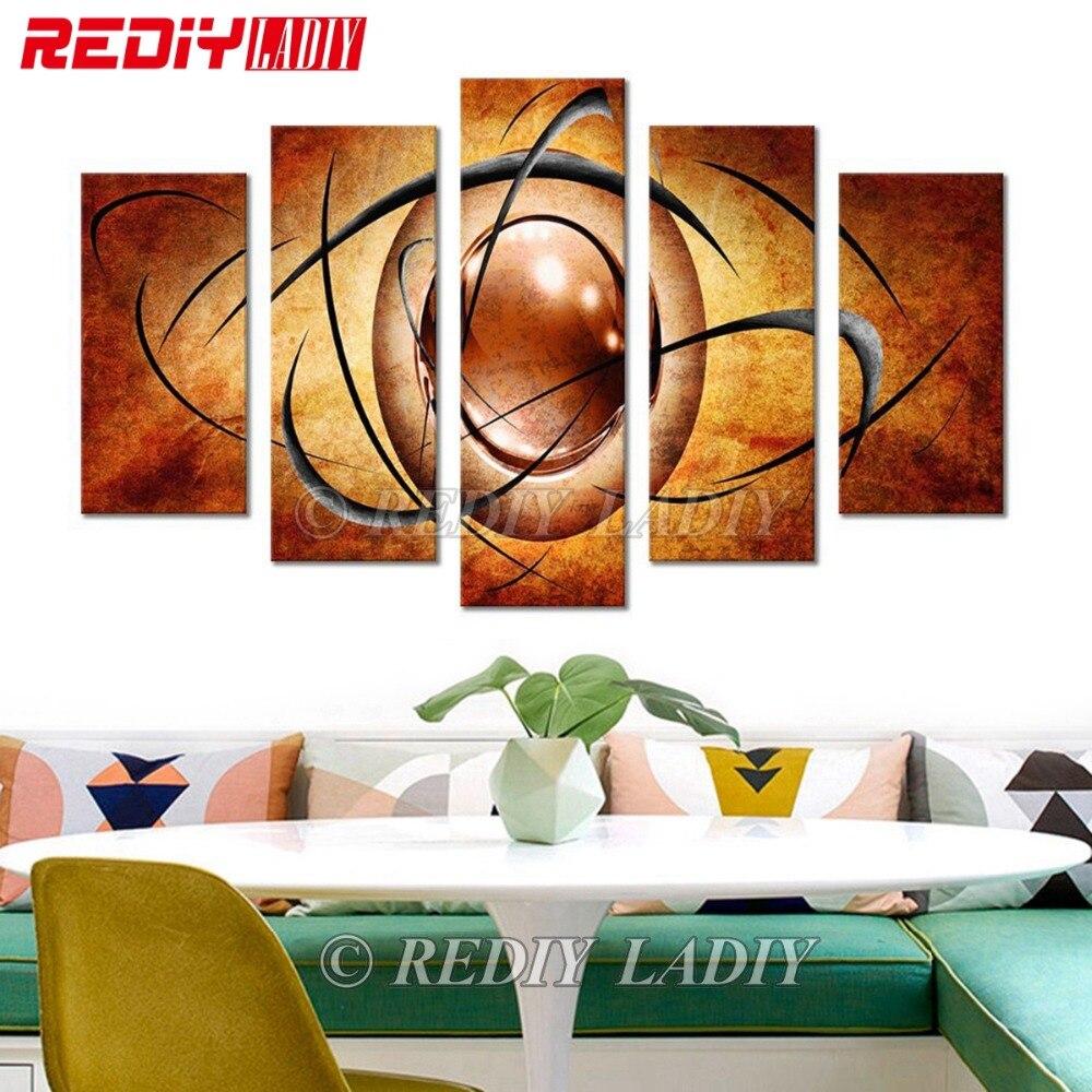 REDIY LADIY 5D الماس اللوحة بالثلاثي كامل مربع الكريستال وحدات الصورة مجردة الرسم جدار الفن متعددة الصورة ديكور المنزل-في غُرزات تطريز للرسم بالماس من المنزل والحديقة على  مجموعة 1