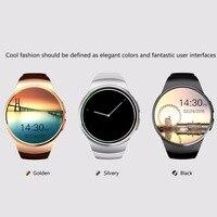 Golden/Black Remote Take Picture 240 * 240 pixels Bluetooth Smart Watch Phone KING WEAR KW18 Sim&TF Card Heart Rate Smartwatch