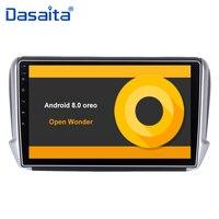 10,2 HD цифровой экран Android 8,0 Автомобильный gps плеер для peugeot 208 2008 с 4G ram 32G rom четырехъядерный стерео радио мультимедиа