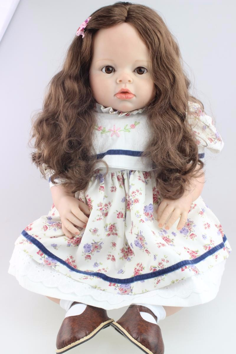 28inch big reborn silicone princess toddler doll lifelike lol vinyl modeling 70cm girl boneca collectible doll play house toys