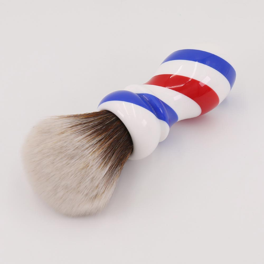 Yaqi New Barber Pole Style 24mm Mew Brown Synthetic Knot Shaving - Barbering og hårfjerning - Foto 5