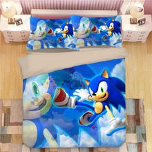 Sonic The Hedgehog Bedding Set Super Mario Bros Duvet Covers Pillowcases Twin Full Queen King Comforter Bedding Sets Bed Linen худи print bar mario sonic